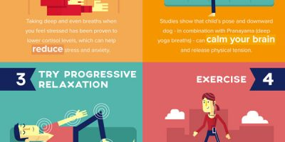 8 Techniques To Reduce Stress {Infographic}