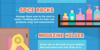 Bathroom Cleaning Hacks {Infographic}