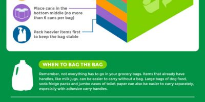 How to Pack Your Reusable Grocery Bags {Infographic}
