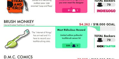 Weirdest Crowdfunding Fails {Infographic}