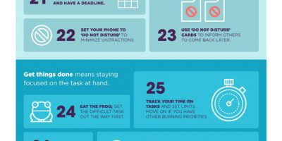 44 Ways To Be More Productive {Infographic}