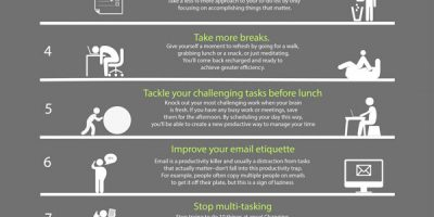 9 Ways To Be Productive {Infographic}