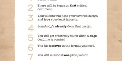 10 Murphy's Laws All Designers Live By {Infographic}