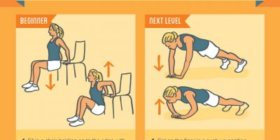26 Bodyweight Exercises To Do At Home {Infographic}