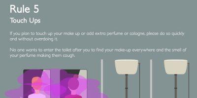 Office Toilet Etiquette Infographic