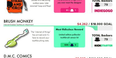 Weirdest Crowdfunding Fails [Infographic]