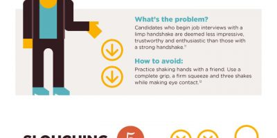 7 Body Language Interview Mistakes [Infographic]