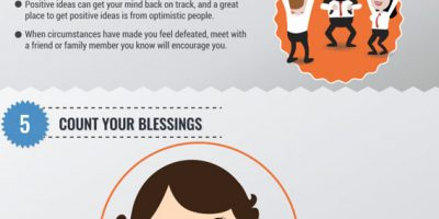 9 Ways To Stay Positive In Difficult Times [Infographic]