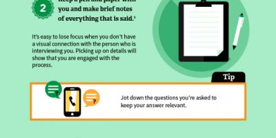 Tips To Ace Your Phone Interview [Infographic]
