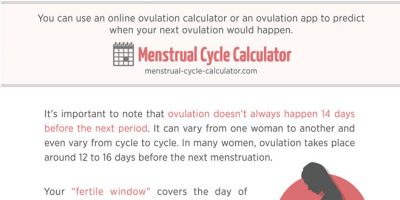 How To Calculate Your Next Period & Ovulation [Infographic]