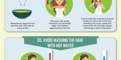 8 Proven Ways To Repair Damaged Hair [Infographic]