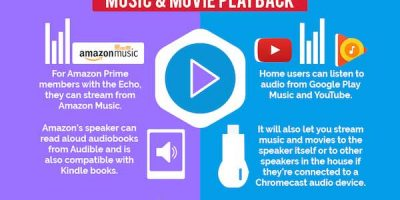 Amazon Echo vs. Google Home [Infographic]