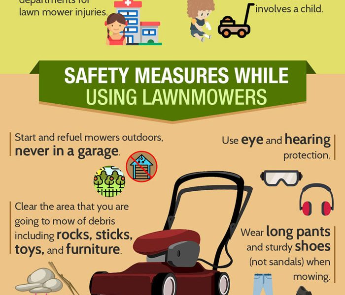 lawn mower safety tips  infographic