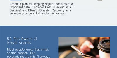 Common Small Biz IT Security Mistakes [Infographic]
