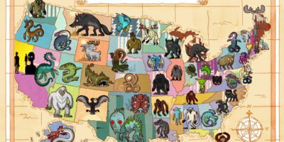 Mythical Creatures of Every US State, Illustrated