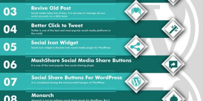 10 Best Social Media Plugins [Infographic]