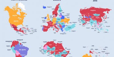 The Most Common Last Name In Every Country