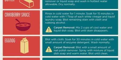 Holiday Stain Removal Guide [Infographic]