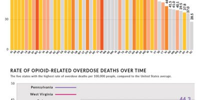 Opioid Overdose Deaths & Prescription Rates by State