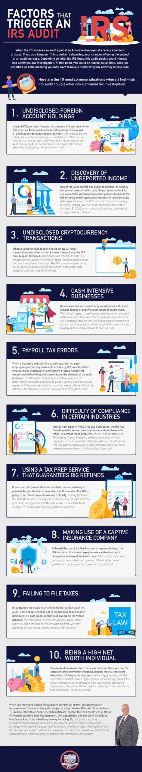 factors that trigger an irs audit  infographic