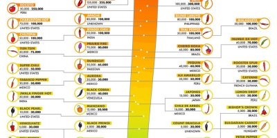 Peppers Ranked by Scoville Heat Units [Infographic]