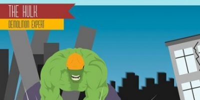 Superheros' Day Jobs [Infographic]