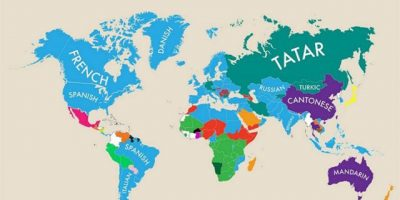 2nd Languages Spoken by Countries Around the World