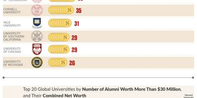 Global Universities with the Most Billionaire & Millionaire Alumni [Infographic]