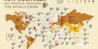 How Much Beer People Drink Around the World