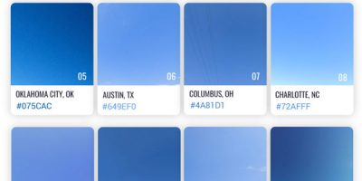 Which American City has the Bluest Sky? [Infographic]