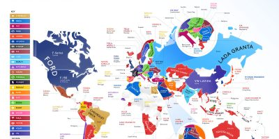 The Best Selling Car in Every Country [Infographic]