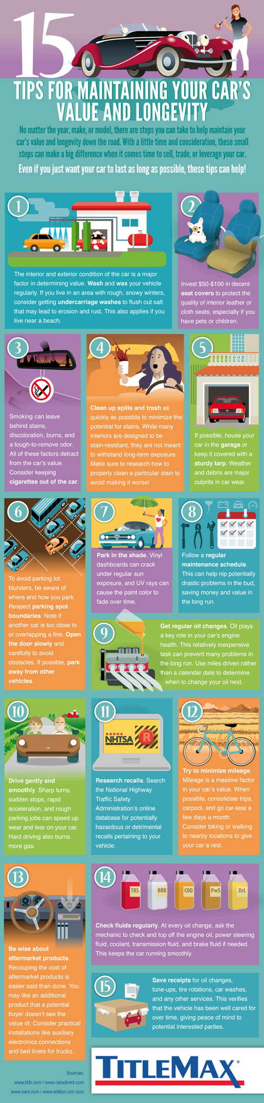 15 Tips for Maintaining Your Car's Value [Infographic]